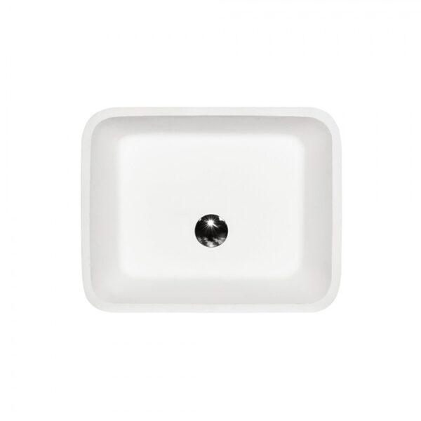 Zdjęcie Umywalka nablatowa Besco Assos B&W  40x50x15 cm czarny/biały UMD-A-NBNW