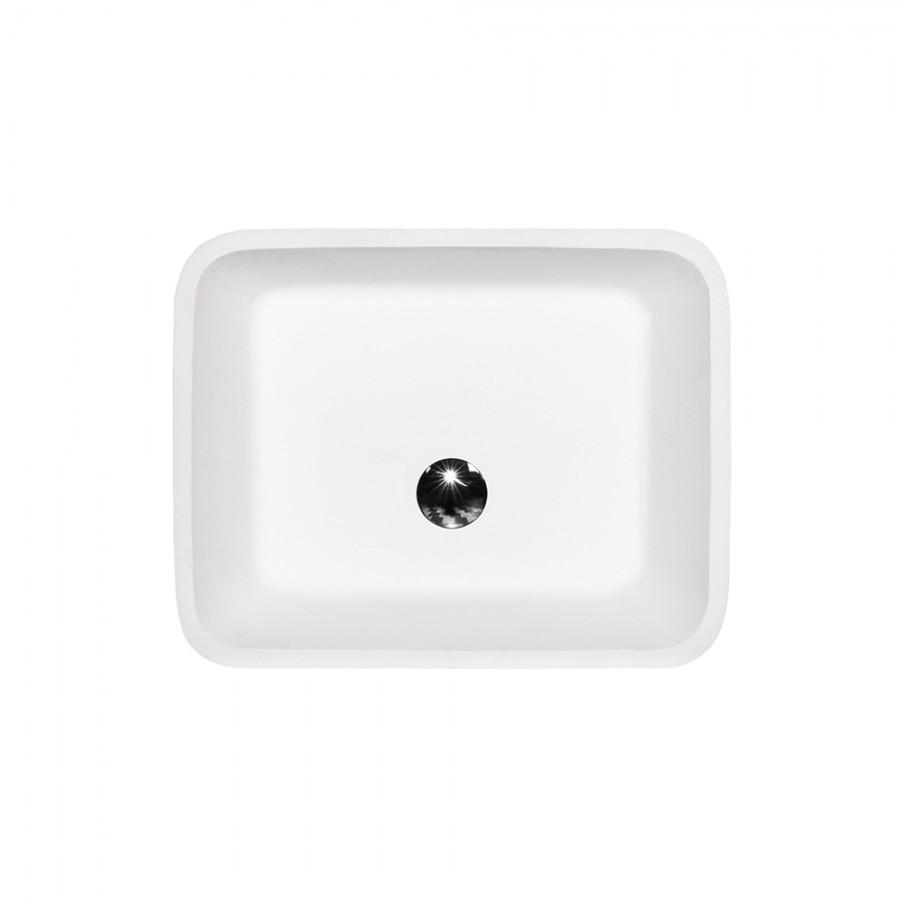 Umywalka nablatowa Besco Assos B&W  40x50x15 cm czarny/biały UMD-A-NBNW