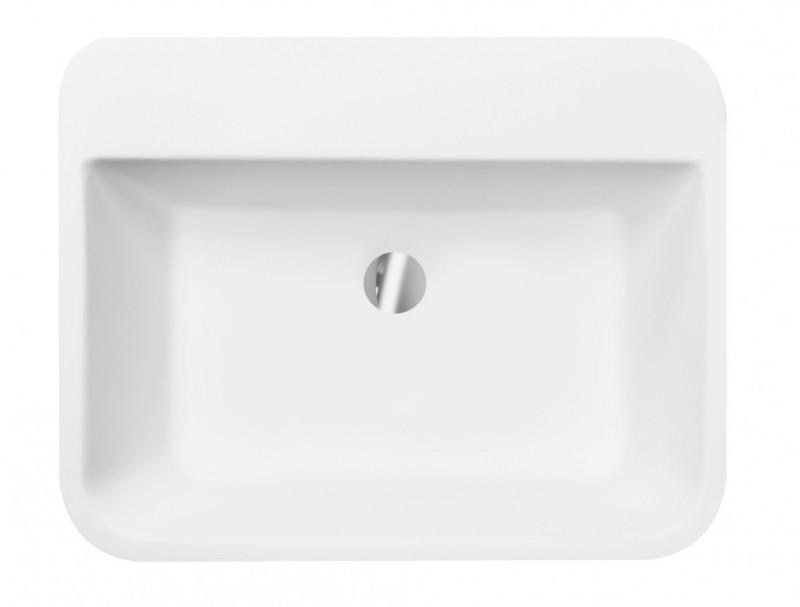 Umywalka wolnostojąca grafitowa Besco Assos S-line Glam 40x50x85 cm grafitowy UMD-AP-WOG