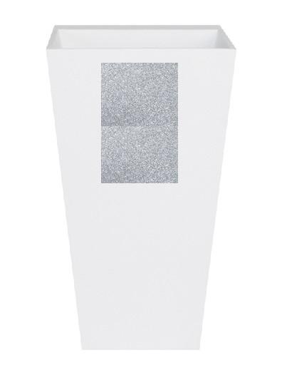 Zdjęcie Umywalka wolnostojąca srebrna Besco Vera Glam 40x50x85 cm srebrny UMD-V-WOS