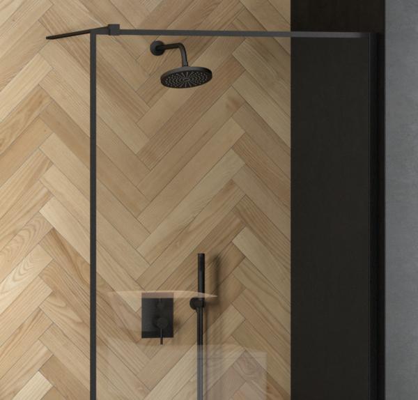 Zdjęcie Zestaw prysznicowy podtynkowy Besco Decco/Illusion II czarny mat BP-DIII-CZ