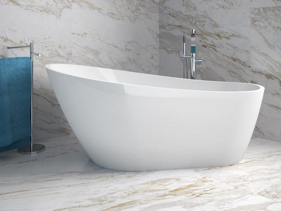 Zdjęcie Wanna wolnostojąca Besco Melody 150×80 cm biały WAS-150-M