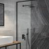 Zdjęcie Zestaw prysznicowy podtynkowy Besco Modern/Varium I czarny mat BP-MVI-CZ