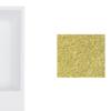 Zdjęcie Umywalka nablatowa złota Besco Vera Glam 40x50x15 cm złoty UMD-V-NBZ