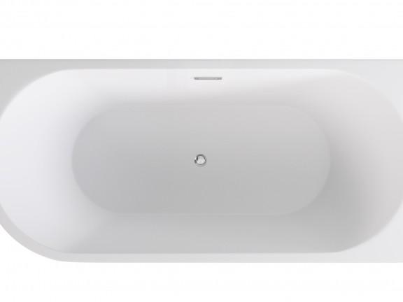 Wanna wolnostojąca przyścienna lewa Besco Zoya 150x75 cm biały WAS-150-ZL