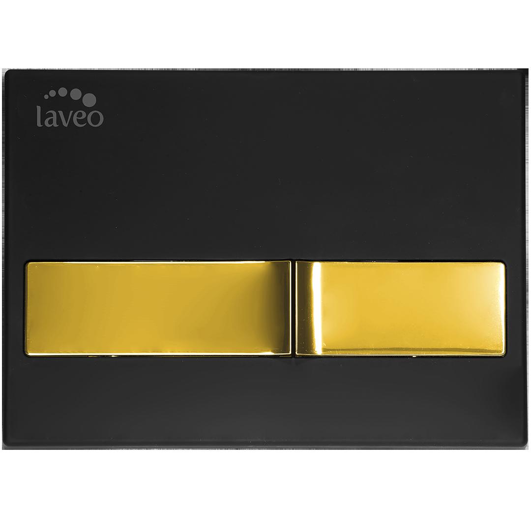 Przycisk do stelaża Laveo Beni czarny/złoty VPB_795G