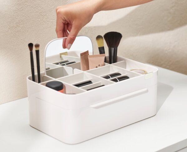 Zdjęcie Organizer na kosmetyki Joseph Joseph z szufladką i lusterkiem Viva 75005